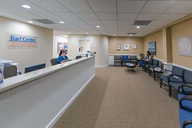 Barr Center Reception Area